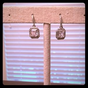 Stella and Dot Silver and Crystal Earring
